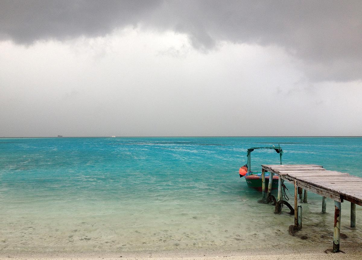 Sturmzeit auf einer einsamen Insel